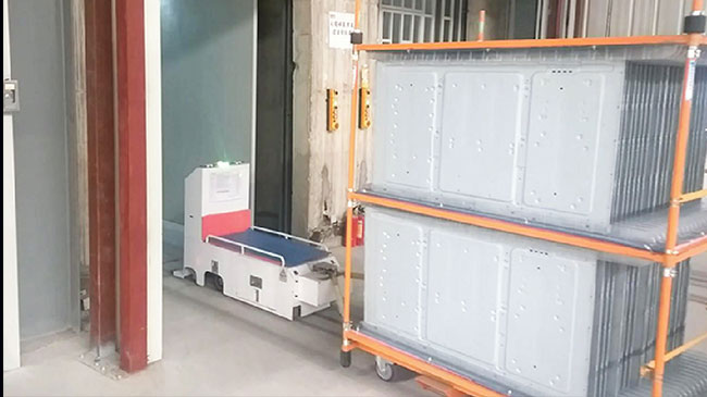 L Type Automatic Guided Vehicle , AGV Towing Vehicle For Food Industry