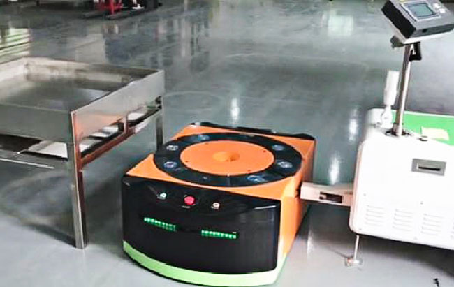 DC48V Automated Guided Vehicle Robot , Trackless Navigation Slam AGV Easy Installation